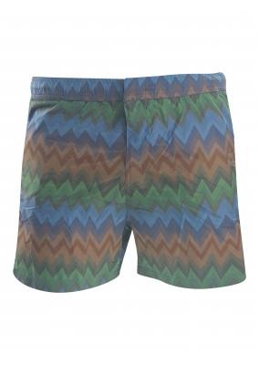 missoni Zigzag Swim Shorts Green S605W