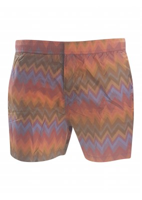 missoni Zigzag Swim Shorts Orange S203B