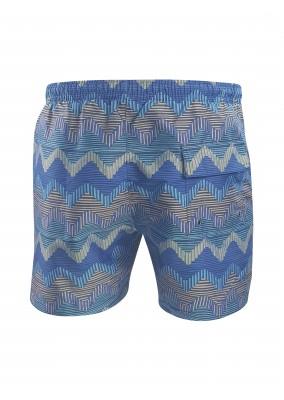 Missoni Zigzag swim shorts blue