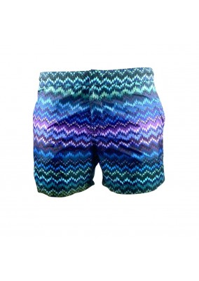 Missoni Zigzag Pattern Printed Swim Shorts S70KW